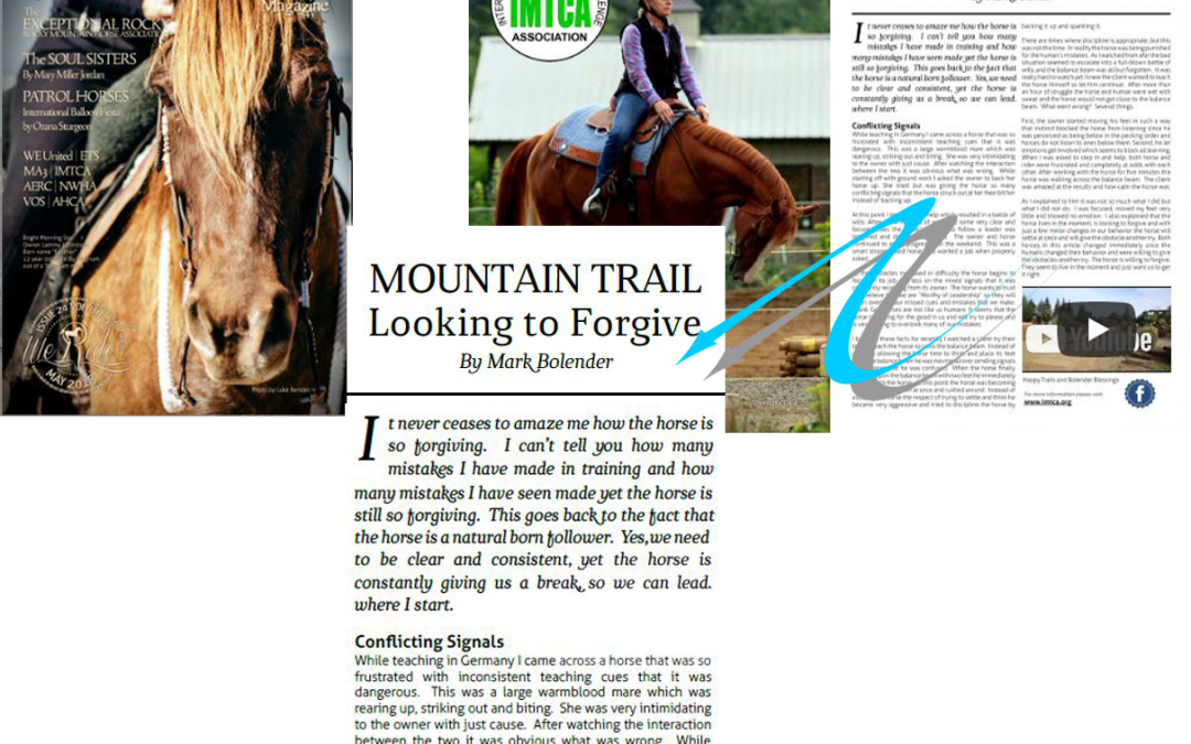 May01 MOUNTAIN TRAIL Looking To Forgive. By Mark Bolender